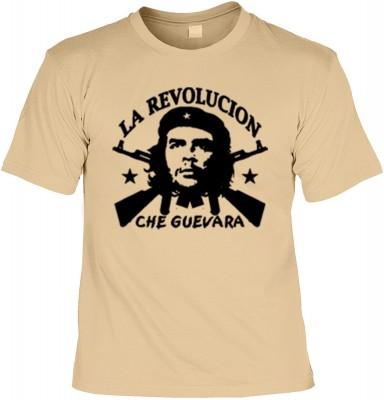 Top Qualität! HK_UCA_14_12404-P11 mit dem Motiv: <br><b>Revolution T-Shirt Che Guevara - La Revolucion in sand</b>,fällt sofort ins Auge und sorgt für einen gelungenen Auftritt.<br><br>T-shirt namenhafter Hersteller in bester Qualität, wie <b>Stedman</b>