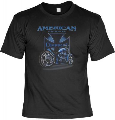 Top Qualität! HK_MTS_01_11299-P16 mit dem Motiv: <br><b>Motorrad T-shirt American original Choppers Fb schwarz</b>,fällt sofort ins Auge und sorgt für einen gelungenen Auftritt.<br><br>T-shirt namenhafter Hersteller in bester Qualität, wie <b>Stedman</b>