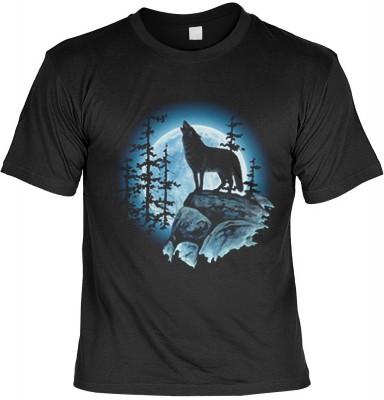 Top Qualität! HK_UCA_01_00429D1 mit dem Motiv: <br><b>Mythologie der Ureinwohner Nordamerikas T-Shirt Wolfsmond in schwarz</b>,fällt sofort ins Auge und sorgt für einen gelungenen Auftritt.<br><br>T-shirt namenhafter Hersteller in bester Qualität, wie <b>