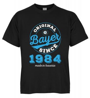 Original Bayer Since 1984 made in bavaria T-Shirt Bio-Baumwolle