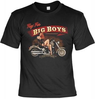 Top Qualität! HK_MTS_01_13443-P16 mit dem Motiv: <br><b>Motorrad Chopper Tshirt Toys for big boys Fb schwarz</b>,fällt sofort ins Auge und sorgt für einen gelungenen Auftritt.<br><br>T-shirt namenhafter Hersteller in bester Qualität, wie <b>Stedman</b> od