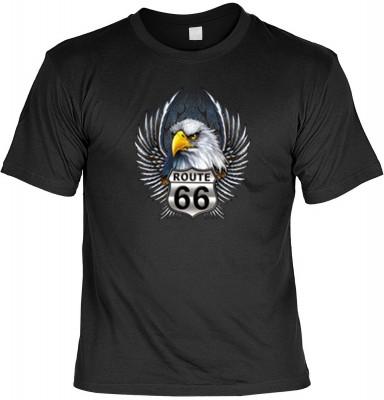 RT66 eagle head wings mit der Artikel-Nr.: HK_Mot_01_13034-P16<b>Biker - Motiv T-Shirt</b><br><br><br><b><u>Angaben zum Produkt vom Hersteller:</u><br><br><b><i>Das Material ist 100% Baumwolle</b><b>Die Tshirts haben ein Schulter zu Schulter Nackenband fü