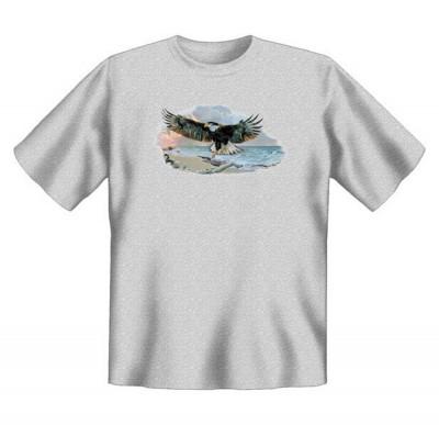 Top Qualität! HK_UCA_07_08258A2 mit dem Motiv: <br><b>Mythologie der Ureinwohner Nordamerikas T-Shirt Of Man and Nature II in grau</b>,fällt sofort ins Auge und sorgt für einen gelungenen Auftritt.<br><br>T-shirt namenhafter Hersteller in bester Qualität,