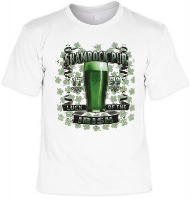 Shamrock pub mit der Artikel-Nr.: HK_Mot_02_15046-P16<b>Biker - Motiv T-Shirt</b><br><br><br><b><u>Angaben zum Produkt vom Hersteller:</u><br><br><b><i>Das Material ist 100% Baumwolle</b><b>Die Tshirts haben ein Schulter zu Schulter Nackenband für bessere