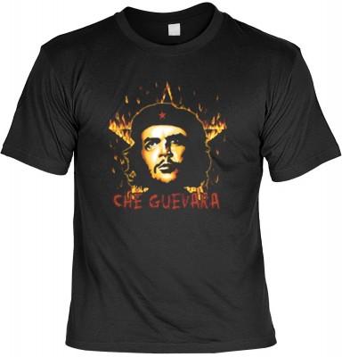 Top Qualität! HK_UCA_01_12104-P16 mit dem Motiv: <br><b>Revolution T-Shirt Che Guevara mit Flammenstern in schwarz</b>,fällt sofort ins Auge und sorgt für einen gelungenen Auftritt.<br><br>T-shirt namenhafter Hersteller in bester Qualität, wie <b>Stedman<