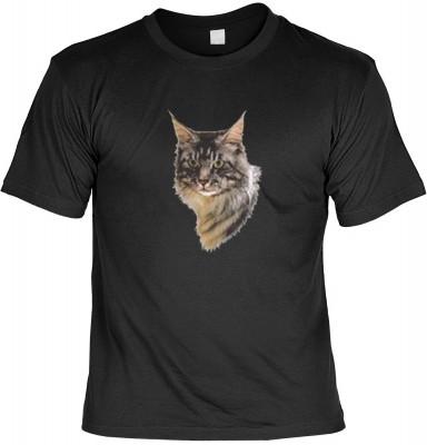 Top Qualität! HK_MTS_01_6059-P16 mit dem Motiv: <br><b>Katzen Kätzchen T-shirt Maine Coon Fb schwarz</b>,fällt sofort ins Auge und sorgt für einen gelungenen Auftritt.<br><br>T-shirt namenhafter Hersteller in bester Qualität, wie <b>Stedman</b> oder <b>Fr