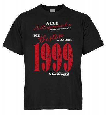 Alle Lieblingsmenschen werden gleich geschaffen die Besten wurden 1999 geboren T-Shirt Bio-Baumwolle