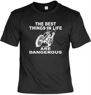 Top Qualität! HK_USA_01_11315-P8 mit dem Motiv: <br><b>Motorradfahrer T-Shirt The Best Things in Life Fb schwarz auch in 3xL 4xL 5xL</b>,fällt sofort ins Auge und sorgt für einen gelungenen Auftritt.<br><br>T-shirt namenhafter Hersteller in bester Qualitä