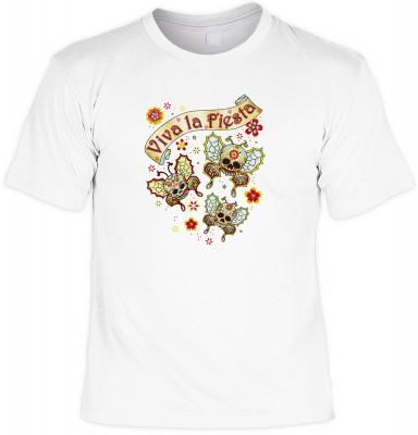 Viva la fiesta buttfly mit der Artikel-Nr.: HK_Mot_02_13457-P15<b>Biker - Motiv T-Shirt</b><br><br><br><b><u>Angaben zum Produkt vom Hersteller:</u><br><br><b><i>Das Material ist 100% Baumwolle</b><b>Die Tshirts haben ein Schulter zu Schulter Nackenband f