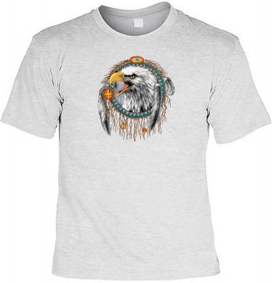 Dreamcatcher eagle mit der Artikel-Nr.: HK_Mot_07_9445-P16<b>Biker - Motiv T-Shirt</b><br><br><br><b><u>Angaben zum Produkt vom Hersteller:</u><br><br><b><i>Das Material ist 100% Baumwolle</b><b>Die Tshirts haben ein Schulter zu Schulter Nackenband für be