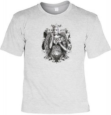 Tattoo Marilyn mit der Artikel-Nr.: HK_Mot_07_15127-P17<b>Biker - Motiv T-Shirt</b><br><br><br><b><u>Angaben zum Produkt vom Hersteller:</u><br><br><b><i>Das Material ist 100% Baumwolle</b><b>Die Tshirts haben ein Schulter zu Schulter Nackenband für besse