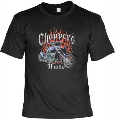Top Qualität! HK_MTS_01_11213-P16 mit dem Motiv: <br><b>Chopper Flammen T-shirt Choppers Rule Fb schwarz</b>,fällt sofort ins Auge und sorgt für einen gelungenen Auftritt.<br><br>T-shirt namenhafter Hersteller in bester Qualität, wie <b>Stedman</b> oder <
