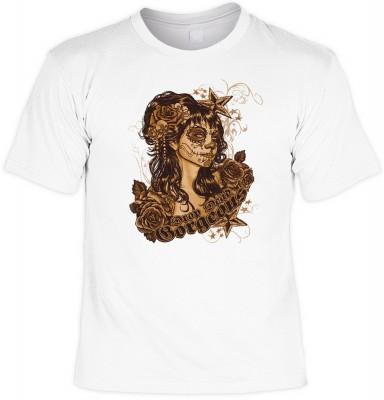 Drop dead gorgeous mit der Artikel-Nr.: HK_Mot_02_15051-P15<b>Biker - Motiv T-Shirt</b><br><br><br><b><u>Angaben zum Produkt vom Hersteller:</u><br><br><b><i>Das Material ist 100% Baumwolle</b><b>Die Tshirts haben ein Schulter zu Schulter Nackenband für b