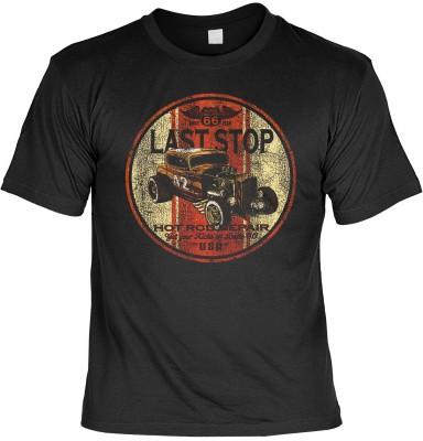 Last stop hot rod repair mit der Artikel-Nr.: HK_Mot_01_13689-P16<b>Biker - Motiv T-Shirt</b><br><br><br><b><u>Angaben zum Produkt vom Hersteller:</u><br><br><b><i>Das Material ist 100% Baumwolle</b><b>Die Tshirts haben ein Schulter zu Schulter Nackenband