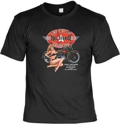 Top Qualität! HK_MTS_01_12721-P16 mit dem Motiv: <br><b>Motorrad Oldtimer Last Stop T-shirt Full Service Fb schwarz</b>,fällt sofort ins Auge und sorgt für einen gelungenen Auftritt.<br><br>T-shirt namenhafter Hersteller in bester Qualität, wie <b>Stedman