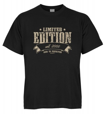 Limited Edition seit 2000 aged to perfection T-Shirt Bio-Baumwolle