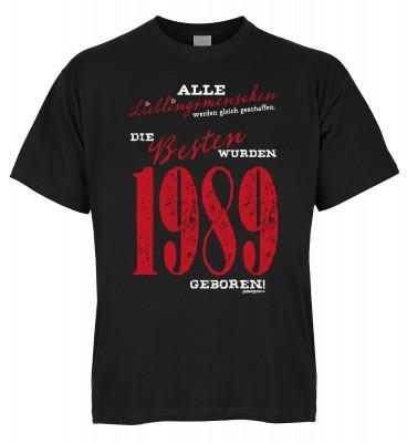 Alle Lieblingsmenschen werden gleich geschaffen die Besten wurden 1989 geboren T-Shirt Bio-Baumwolle