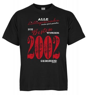 Alle Lieblingsmenschen werden gleich geschaffen die Besten wurden 2002 geboren T-Shirt Bio-Baumwolle