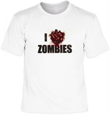 I love zombies mit der Artikel-Nr.: HK_Mot_02_13672-P9<b>Biker - Motiv T-Shirt</b><br><br><br><b><u>Angaben zum Produkt vom Hersteller:</u><br><br><b><i>Das Material ist 100% Baumwolle</b><b>Die Tshirts haben ein Schulter zu Schulter Nackenband für besser