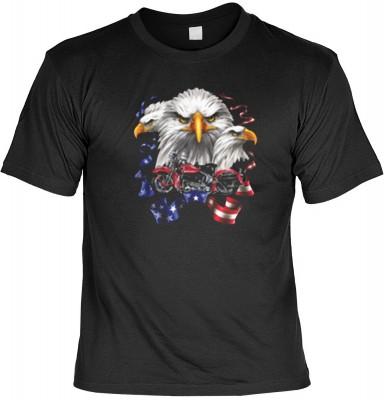Top Qualität! HK_USA_01_11198-P16 mit dem Motiv: <br><b>Motorradfahrer T-Shirt Eagles Bike Fb schwarz auch in 3xL 4xL 5xL</b>,fällt sofort ins Auge und sorgt für einen gelungenen Auftritt.<br><br>T-shirt namenhafter Hersteller in bester Qualität, wie <b>S
