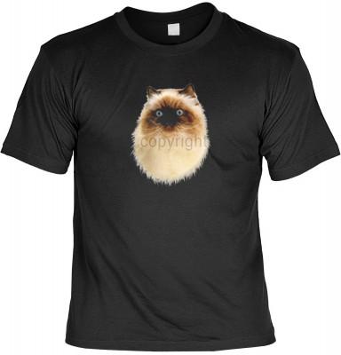 Top Qualität! HK_MTS_01_6058-P16 mit dem Motiv: <br><b>Katzen Kätzchen T-shirt Himalayan Fb schwarz</b>,fällt sofort ins Auge und sorgt für einen gelungenen Auftritt.<br><br>T-shirt namenhafter Hersteller in bester Qualität, wie <b>Stedman</b> oder <b>Fru