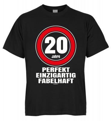 20 Jahre perfekt einzigartig fabelhaft T-Shirt Bio-Baumwolle