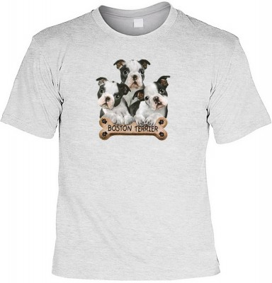 Boston terriers mit der Artikel-Nr.: HK_Mot_07_11181-P15<b>Biker - Motiv T-Shirt</b><br><br><br><b><u>Angaben zum Produkt vom Hersteller:</u><br><br><b><i>Das Material ist 100% Baumwolle</b><b>Die Tshirts haben ein Schulter zu Schulter Nackenband für bess