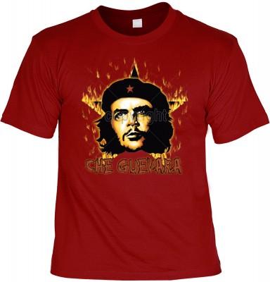 Top Qualität! HK_UCA_22_12104-P16 mit dem Motiv: <br><b>Revolution T-Shirt Che Guevara mit Flammenstern in dunkelrot</b>,fällt sofort ins Auge und sorgt für einen gelungenen Auftritt.<br><br>T-shirt namenhafter Hersteller in bester Qualität, wie <b>Stedma