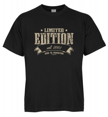 Limited Edition seit 2001 aged to perfection T-Shirt Bio-Baumwolle