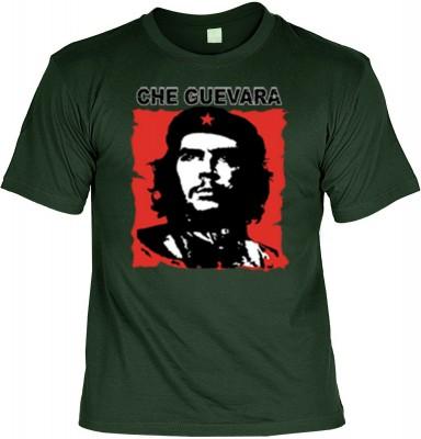 Top Qualität! HK_UCA_10_11211-P16 mit dem Motiv: <br><b>Revolution T-Shirt Che Guevara in tannengrün</b>,fällt sofort ins Auge und sorgt für einen gelungenen Auftritt.<br><br>T-shirt namenhafter Hersteller in bester Qualität, wie <b>Stedman</b> oder <b>Fr
