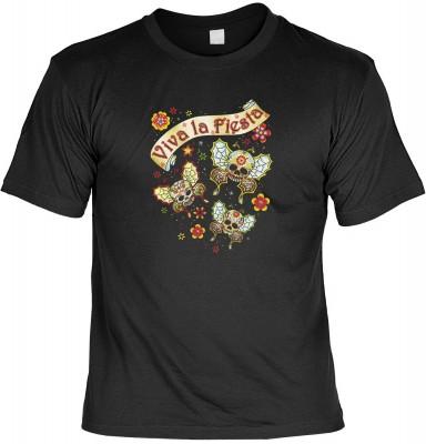Viva la fiesta buttfly mit der Artikel-Nr.: HK_Mot_01_13457-P15<b>Biker - Motiv T-Shirt</b><br><br><br><b><u>Angaben zum Produkt vom Hersteller:</u><br><br><b><i>Das Material ist 100% Baumwolle</b><b>Die Tshirts haben ein Schulter zu Schulter Nackenband f