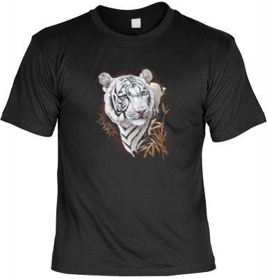 Top Qualität! HK_MTS_01_10718-P16 mit dem Motiv: <br><b>Wildtiere Romantik T-shirt Weisser Tiger Fb schwarz</b>,fällt sofort ins Auge und sorgt für einen gelungenen Auftritt.<br><br>T-shirt namenhafter Hersteller in bester Qualität, wie <b>Stedman</b> ode
