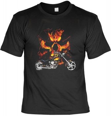 Bike Flames mit der Artikel-Nr.: HK_Mot_01_17886D2<b>Biker - Motiv T-Shirt</b><br><br><br><b><u>Angaben zum Produkt vom Hersteller:</u><br><br><b><i>Das Material ist 100% Baumwolle</b><b>Die Tshirts haben ein Schulter zu Schulter Nackenband für besseren T