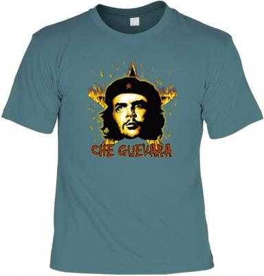 Top Qualität! HK_UCA_21_12104-P16 mit dem Motiv: <br /><b> Revolution T-Shirt Che Guevara mit Flammenstern in stahlblau </b>,fällt sofort ins Auge und sorgt für einen gelungenen Auftritt.<br /><br />T-shirt namenhafter Hersteller in bester Qualität, wie <