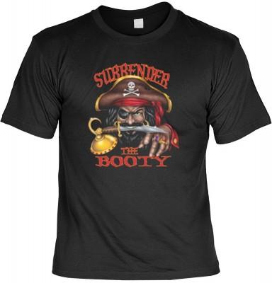 Top Qualität! HK_UCA_01_11908-P16 mit dem Motiv: <br><b>Freibeuter T-Shirt Surrender the Booty in schwarz</b>,fällt sofort ins Auge und sorgt für einen gelungenen Auftritt.<br><br>T-shirt namenhafter Hersteller in bester Qualität, wie <b>Stedman</b> oder