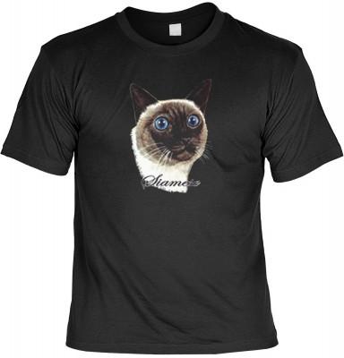 Top Qualität! HK_MTS_01_11838-P8 mit dem Motiv: <br><b>Katzen T-shirt Siamkatze Fb schwarz</b>,fällt sofort ins Auge und sorgt für einen gelungenen Auftritt.<br><br>T-shirt namenhafter Hersteller in bester Qualität, wie <b>Stedman</b> oder <b>Fruit of the
