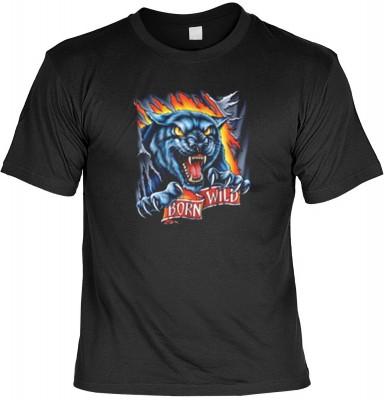 Top Qualität! HK_MTS_01_4764-P16 mit dem Motiv: <br><b>Biker Chopper Cruiser T-shirt: Born Wild Fb schwarz</b>,fällt sofort ins Auge und sorgt für einen gelungenen Auftritt.<br><br>T-shirt namenhafter Hersteller in bester Qualität, wie <b>Stedman</b> oder