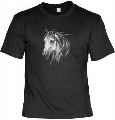 Top Qualität! HK_MTS_01_12659-P11 mit dem Motiv: <br><b>weißes Pferde Motiv Tshirt Horse Fb schwarz</b>,fällt sofort ins Auge und sorgt für einen gelungenen Auftritt.<br><br>T-shirt namenhafter Hersteller in bester Qualität, wie <b>Stedman</b> oder <b>Fru