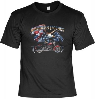 Top Qualität! HK_MTS_01_6169-P16 mit dem Motiv: <br><b>Motorrad Biker Tshirt American Legends Fb schwarz</b>,fällt sofort ins Auge und sorgt für einen gelungenen Auftritt.<br><br>T-shirt namenhafter Hersteller in bester Qualität, wie <b>Stedman</b> oder <