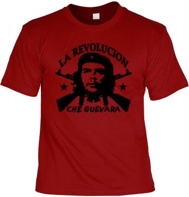 Top Qualität! HK_UCA_22_12404-P11 mit dem Motiv: <br><b>Revolution T-Shirt Che Guevara - La Revolucion in dunkelrot</b>,fällt sofort ins Auge und sorgt für einen gelungenen Auftritt.<br><br>T-shirt namenhafter Hersteller in bester Qualität, wie <b>Stedman