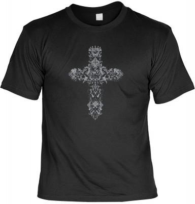 Top Qualität! HK_MTS_01_12211-P8 mit dem Motiv: <br><b>Gothic Cross Tshirt Kreuz Fb schwarz</b>,fällt sofort ins Auge und sorgt für einen gelungenen Auftritt.<br><br>T-shirt namenhafter Hersteller in bester Qualität, wie <b>Stedman</b> oder <b>Fruit of th