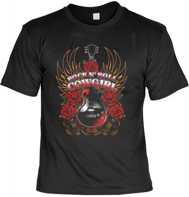 Rock n roll cowgirl mit der Artikel-Nr.: HK_Mot_01_15890-P16<b>Biker - Motiv T-Shirt</b><br><br><br><b><u>Angaben zum Produkt vom Hersteller:</u><br><br><b><i>Das Material ist 100% Baumwolle</b><b>Die Tshirts haben ein Schulter zu Schulter Nackenband für