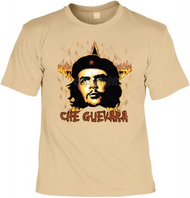 Top Qualität! HK_UCA_14_12104-P16 mit dem Motiv: <br><b>Revolution T-Shirt Che Guevara mit Flammenstern in sand</b>,fällt sofort ins Auge und sorgt für einen gelungenen Auftritt.<br><br>T-shirt namenhafter Hersteller in bester Qualität, wie <b>Stedman</b>