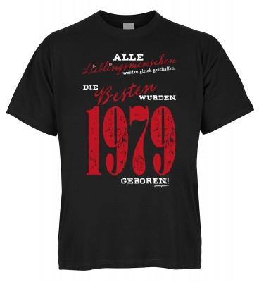 Alle Lieblingsmenschen werden gleich geschaffen die Besten wurden 1979 geboren T-Shirt Bio-Baumwolle