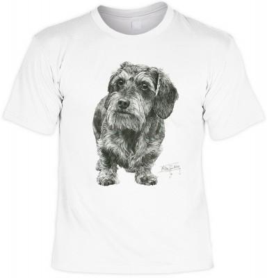 Wire haired dachshund mit der Artikel-Nr.: HK_Mot_02_13295-P13<b>Biker - Motiv T-Shirt</b><br><br><br><b><u>Angaben zum Produkt vom Hersteller:</u><br><br><b><i>Das Material ist 100% Baumwolle</b><b>Die Tshirts haben ein Schulter zu Schulter Nackenband fü