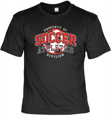 Top Qualität! HK_USA_01_13733-P10 mit dem Motiv: <br><b>Sportmotiv T-Shirt Soccer Athletics Fb schwarz auch in 3xL 4xL 5xL</b>,fällt sofort ins Auge und sorgt für einen gelungenen Auftritt.<br><br>T-shirt namenhafter Hersteller in bester Qualität, wie <b>
