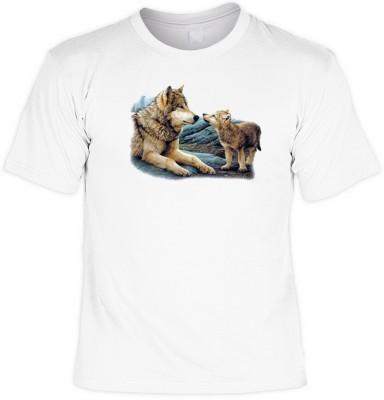 Top Qualität! HK_UCA_02_04720A6 mit dem Motiv: <br /><b> Mythologie der Ureinwohner Nordamerikas T-Shirt Brother Wolf in weiß </b>,fällt sofort ins Auge und sorgt für einen gelungenen Auftritt.<br /><br />T-shirt namenhafter Hersteller in bester Qualität,