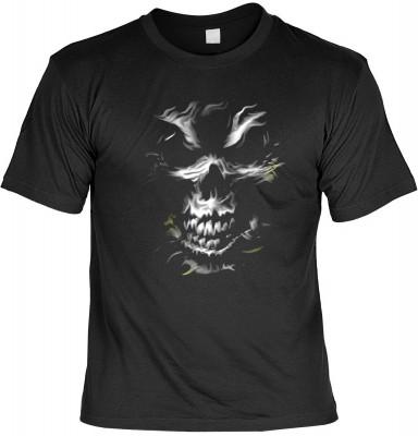 Silver Skull mit der Artikel-Nr.: HK_Mot_01_17882D1<b>Biker - Motiv T-Shirt</b><br><br><br><b><u>Angaben zum Produkt vom Hersteller:</u><br><br><b><i>Das Material ist 100% Baumwolle</b><b>Die Tshirts haben ein Schulter zu Schulter Nackenband für besseren
