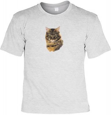 Top Qualität! HK_MTS_07_6057-P16 mit dem Motiv: <br><b>Katzen Kätzchen Tier T-shirt Brown Tabby Fb grau</b>,fällt sofort ins Auge und sorgt für einen gelungenen Auftritt.<br><br>T-shirt namenhafter Hersteller in bester Qualität, wie <b>Stedman</b> oder <b