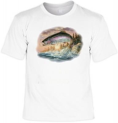 Top Qualität! HK_MTS_02_03651A2 mit dem Motiv: <br><b>Angler Fisch Tshirt Regenbogenforelle Fb weiß</b>,fällt sofort ins Auge und sorgt für einen gelungenen Auftritt.<br><br>T-shirt namenhafter Hersteller in bester Qualität, wie <b>Stedman</b> oder <b>Fru